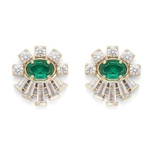 Kendra Scott Atticus Earrings in Emerald Glass!!